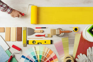 various decorating supplies