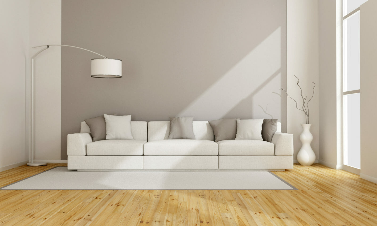 example of minimalist interior design in living room